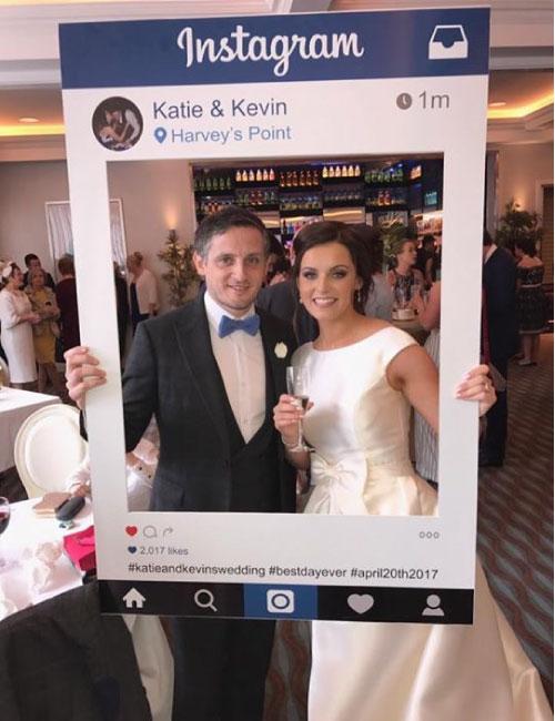 Cornice instagram matrimonio