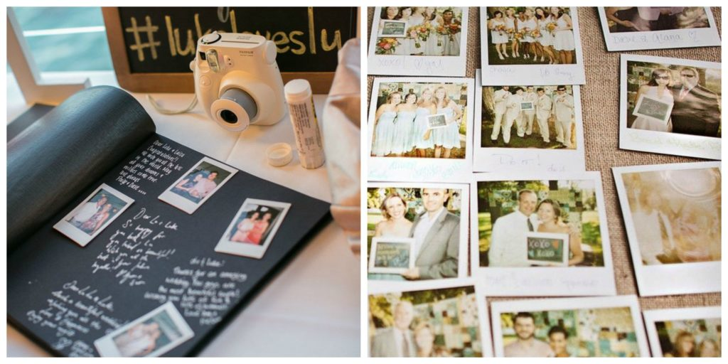 polaroid guestbook photo booth wedding